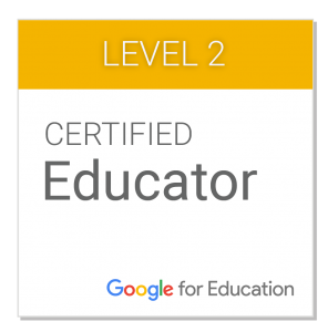 Certificado Educador Google Nivel 2 - José Miguel Vilán